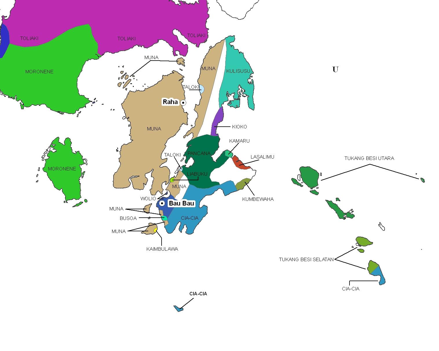 SE Sulawesi islands language map
