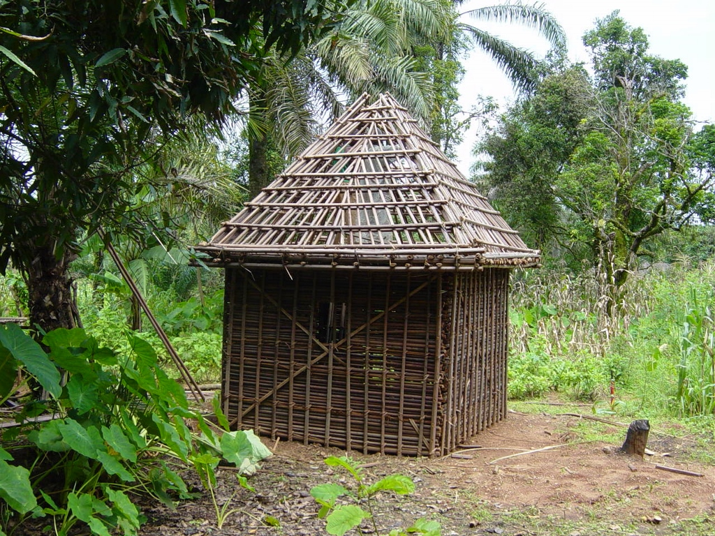House of bamboo sticks-the traditional house
